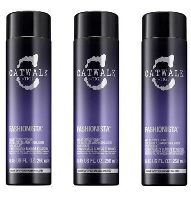 3x Tigi Catwalk Fashionista Violet Conditioner je 250ml Neu!!