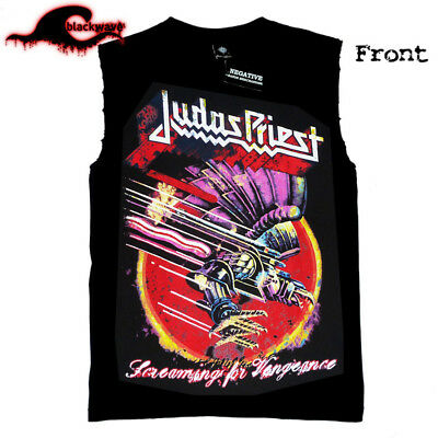 Judas Priest - Screaming For Vengance - Modified Cut-Off Band Singlet