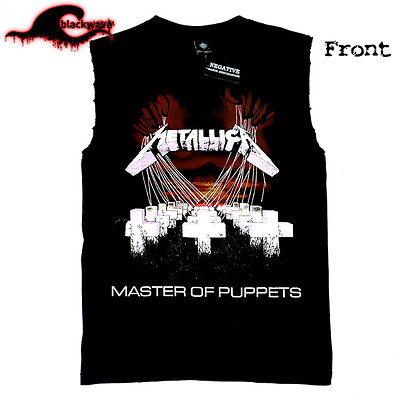 Metallica - Master Of The Puppets - Modified Frayed Cut-Off Band Singlet