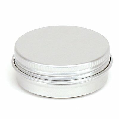 100 X 30 ml Silver Round Aluminium Tin Container With EPE Lined Screw Lid
