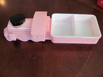 Pink Chow Chow Train Vintage Feeding Dish Baby Child Toddler Plate