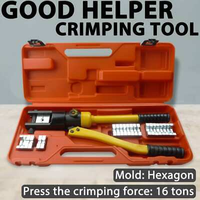 vidaXL Hydraulic Crimping Tool Electric Cable Wire 10-300mm Ratchet Crimper