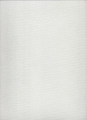 10 count  Zweigart Twist Canvas White  - size 60 x 100cms