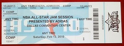 2010 NBA ALL-STAR JAM SESSION TICKET Dallas Convention Center Dallas, TX 2/13/10
