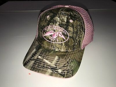 cd2ffc50d83 Duck Commander RealTree Camo Camouflage Pink Womens Trucker Hunting Hat Cap