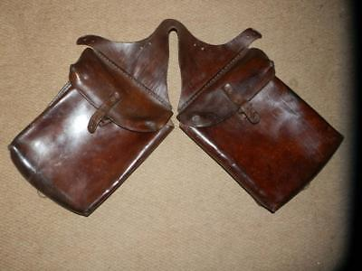 Victorian Horse British Military  Mounted Troops ? Leather Saddle Pouches/Bags