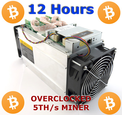 ANTMINER S7 5TH/s Miner Crypto Mining Contract BITCOIN Cash Peercoin - 12 HOURS!