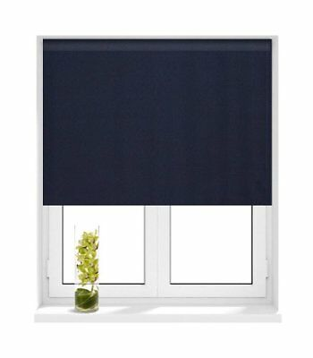 Sunlover THERMAL BLACKOUT Roller Blinds. Plain NAVY BLUE. Sizes 60cm to 210cm