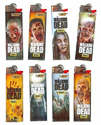 Walking Dead Bic Lighters 8pk You get Exact 8 Designs Pictured