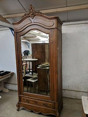 Antique Walnut French Single Armoire