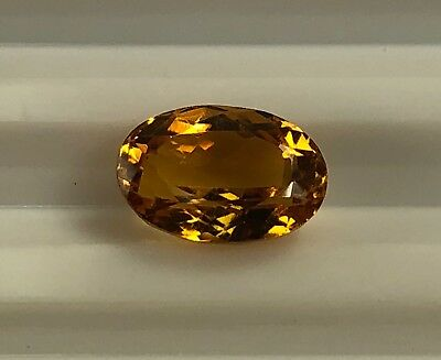 Precious Gemstone Imperial Topaz 2.69 Ct Faceted Oval 1 Pc Clarity If I058