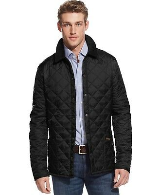 Men's XS Barbour Liddesdale Black Quilted Light Weight Snap Jacket