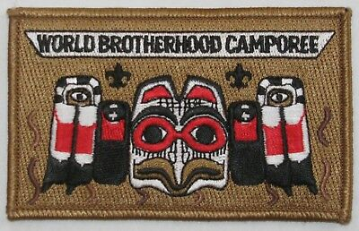 World Brotherhood Camporee Totem Pocket Patch  BSA  BSC