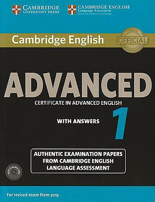Cambridge CERTIFICATE IN ADVANCED ENGLISH CAE 1 w Answers +CDs for 2015 Exam NEW