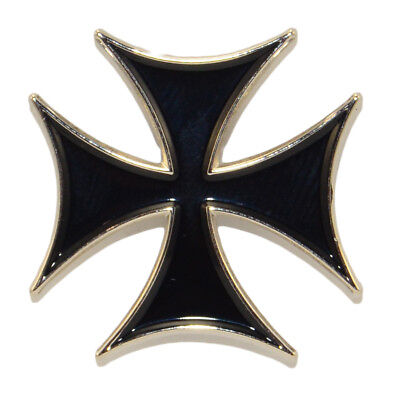 Iron Cross Enamel Pin Brooch Maltese Lemmy Badge Metal Rock Lapel Retro Punk
