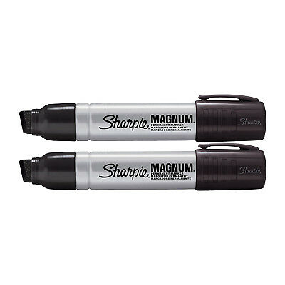 Sharpie Pro Magnum Professional Permanent Marker, Chisel Tip, Black Ink, 2/Pack