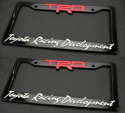 Perfect (Two) 3D ABS Molded TRD License Plate Tag Frame Front Rear For All Toyota