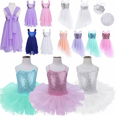 Toddler Kids Girls Party Ballet Dance Wear Tutu Skirt Dress Gymnastics Costume