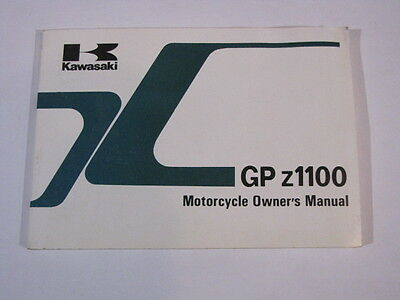 Kawasaki Gpz1100 Zx1100-A3  Owners Owner Owner's Manual