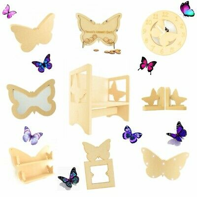 Childrens Wooden Butterfly Themed Chair Kids Toddlers Childs Nursery Furniture