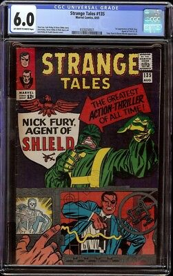 Strange Tales # 135 CGC 6.0 OW/W (Marvel, 1965) 1st appearance of Nick Fury