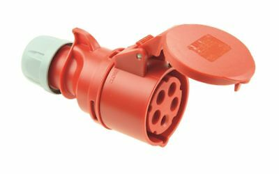 Pce Shark IP44 Cee 16A 5p Red Clutch 5 Pin 215-6 Heavy Current
