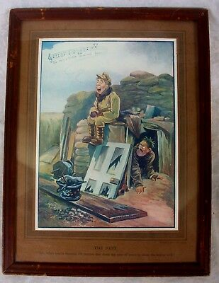 Bruce Bairnsfather Framed Color Print Nest WW1 Fragments from France Old Bill