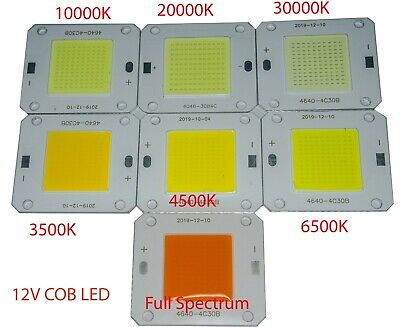 Led chip COB 12V 50w 3500K 6500K 10000K 20000K 30000K