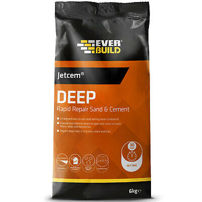 Everbuild Jetcem Rapid Setting Sand and Cement Ready Mixed Repair Grey- 6kg