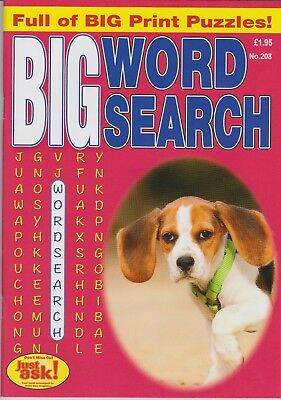 Big Wordsearch #208 New Puzzle Magazine (Big Print Puzzles.)