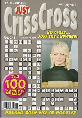Just Crisscross (Criss Cross) #248 NEW PUZZLE Magazin (Free 1st class post U.K.)