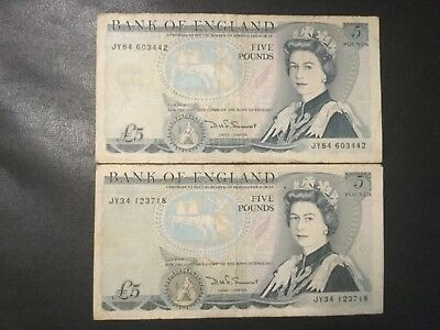 1980-1990 Great Britain Paper Money - Lot Of 30 Pounds In Banknotes !