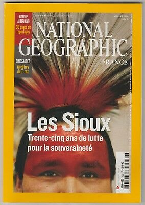 National Geographic N°106 juillet 2008 Bolivie DInosaures Sioux  ...