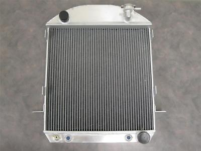 Ford 1924-1927 T-Bucket Street Rod 3 Row Aluminum Radiator w Chevy Inlet Outlet