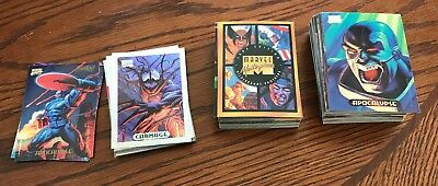 1994 Marvel Masterpieces Complete Base Set Plus Power And Holofoil Subset Cards