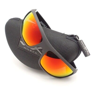 964796296a Wiley X Omega Matte Black Crimson Polar Mirror Sunglasses Authentic New  ACOME05
