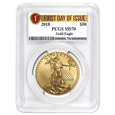 2018 $50 American Gold Eagle 1 oz. PCGS MS70 FDOI First Label