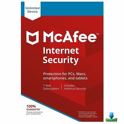 McAfee Internet Security 2019 Unlimited Devices,12 Months Win, Mac, IOS, Android