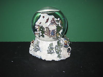 Boyds Bearly Built Villages Kringles Shanty Winter Wishes Musical Snow Globe
