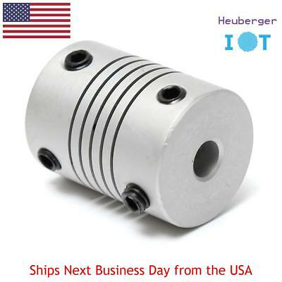 Motor Jaw Shaft Coupler 5mm To 5mm Flexible Coupling 19x25mm for 3D Printer CNC