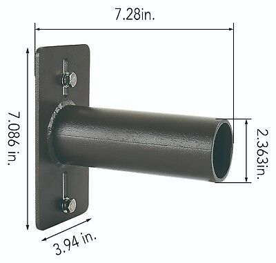 Tenon Wall  Adaptor. Black Bracket. Steel Lighting Mount. Horizontal