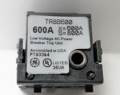General Electric Tr8B600 600A Rating Plug