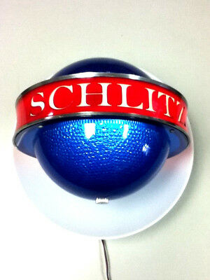 Schlitz beer sign vintage 1961 lighted sconce light motion spinning bar SATURN 1