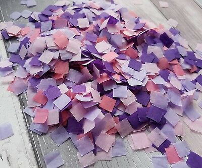 Coral,pink,lilac And Purple Square Confetti Wedding Party Decoration/2 Handfuls