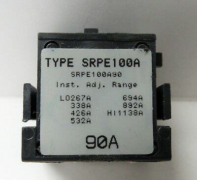 General Electric Srpe100A90 90A Rating Plug