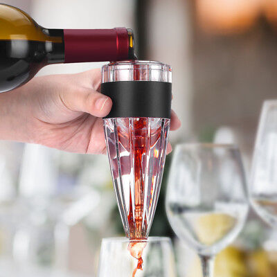 LANGRIA Home Bar Cone-Shaped Red Wine Aerator + Filter Wine Aerator Decanter Set
