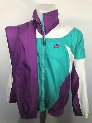 Nike Windbreaker Suit Men's Vintage Track Matching Purple M Medium