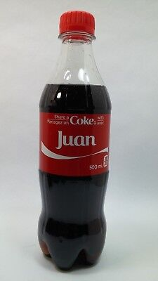 Share a Coke With Juan Coca Cola Exclusive Canadian Name Unopened