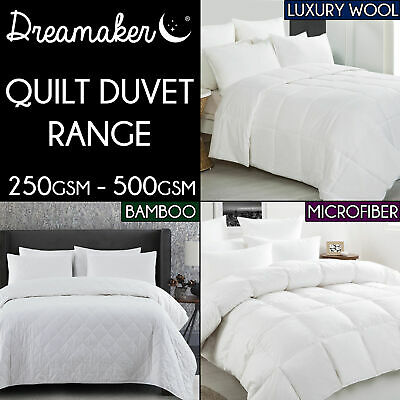LUXURY 250GSM BAMBOO / COTTON Blended Quilt Doona Duvet COTTON COVER SUMMER Size