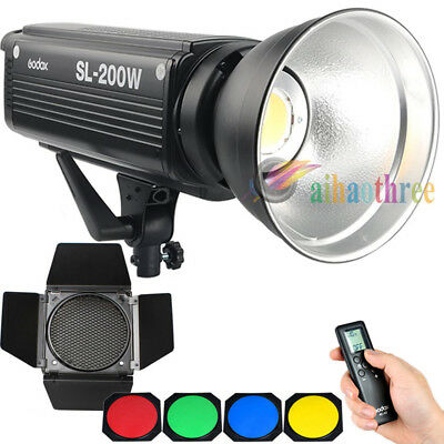 Godox SL-200W 200W Bowens Mount Studio LED Light + Barn Door With Grid Gels【AU】